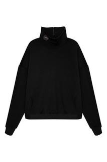 Черный свитер с молнией на воротнике Zasport