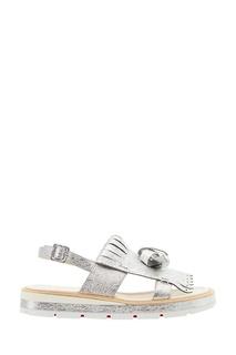 Серебристые сандалии Costa Gomma 30 Christian Louboutin