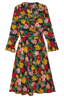 Шелковое платье с цветочным принтом Tara Jarmon