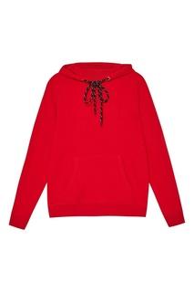 Красное худи с 3d-логотипом Zasport