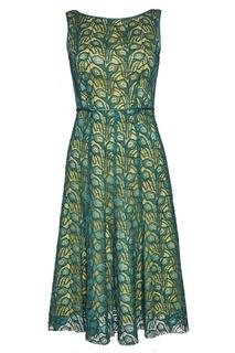 Платье из зеленого кружева Adolfo Dominguez