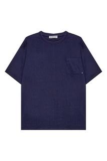 Синяя футболка с карманом Zasport