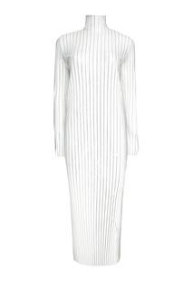 Серебристое платье-гофре Esve