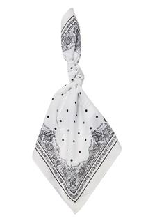 Белый хлопковый платок Dolce & Gabbana