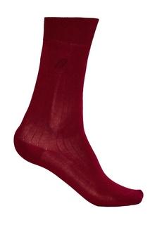 Бордовые носки из хлопка Brioni