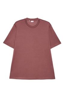 Шелковая футболка розового цвета Brioni