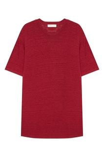 Красная льняная футболка Etro