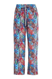 Шелковые брюки с графичным принтом Etro