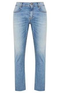 Голубые выбеленные джинсы Dirk Bikkembergs