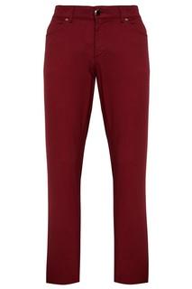 Бордовые брюки из хлопка Etro