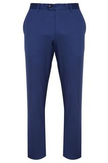 Синие хлопковые брюки Etro
