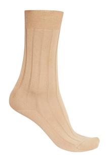Бежевые носки из хлопка Artioli