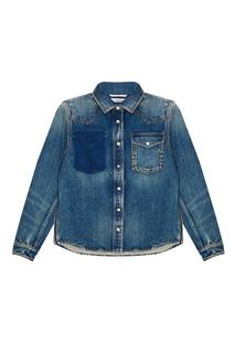 Джинсовая рубашка с заклепками Valentino