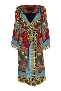 Шелковое платье-халат с принтом Etro