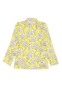 Шелковая блузка с растительным принтом Valentino