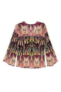 Шелковая блузка с орнаментом Etro
