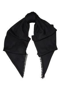 Черный шерстяной шарф Gucci