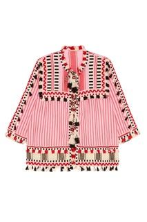 Хлопковая блузка с кисточками Marcus Dodo Bar Or