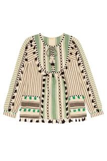 Зеленая блузка с кисточками Aria Dodo Bar Or