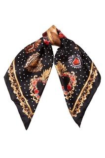 Шелковый платок с сердцами Dolce & Gabbana
