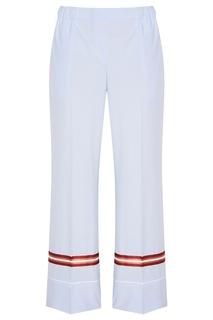 Голубые брюки из хлопка No.21