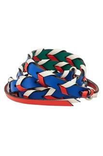 Красно-зеленый ремень для сумки Loewe