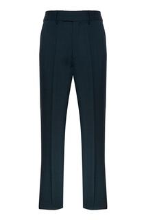 Темно-зеленые брюки из шерсти Balenciaga