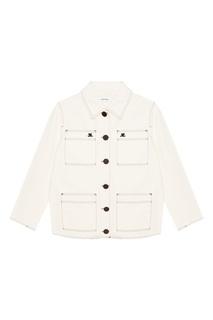 Белая куртка-карго из хлопка Courreges