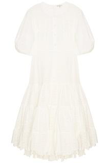Ажурное белое платье Natasha Zinko