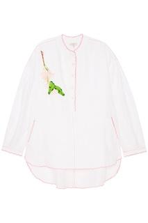 Льняная блузка с вышивкой Natasha Zinko