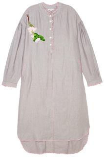Льняное платье-рубашка с вышивкой Natasha Zinko