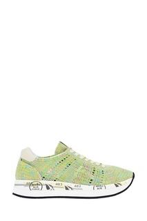 Фактурные зеленые кроссовки Premiata