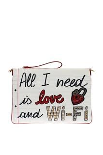 Клатч со слоганом Cleo Dolce & Gabbana
