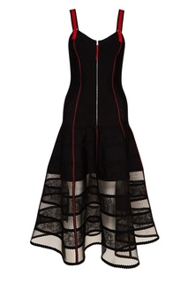 Черное платье на молнии Alexander Mc Queen