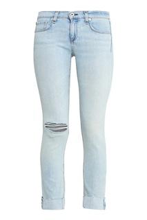 Голубые джинсы с обрезанным краем Rag&Bone