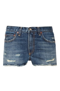 Джинсовые шорты-мини с рваной бахромой Rag&Bone