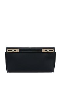 Черная кожаная сумка Missy Loewe