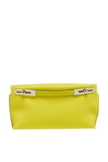 Желтая кожаная сумка Missy Loewe