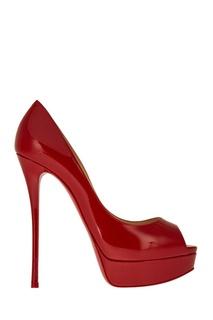 Красные лакированные туфли Fetish Peep 150 Christian Louboutin