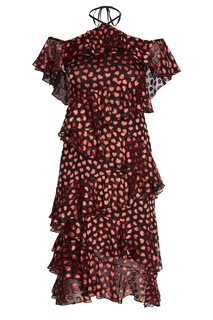 Платье с воланами Alice + Olivia