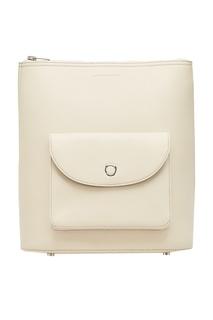 Белый кожаный рюкзак Alexander Wang