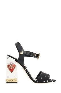 Босоножки с принтом и заклепками Dolce & Gabbana