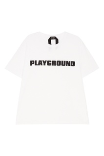 Белая футболка с черной надписью No.21