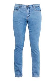 Прямые голубые джинсы No.21