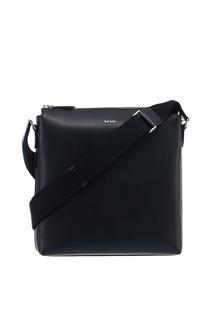 Черная сумка из текстурированной кожи Paul Smith