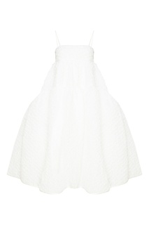 Белое платье с воланами Cecilie Bahnsen