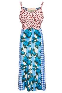 Комбинированное платье на бретелях Marni