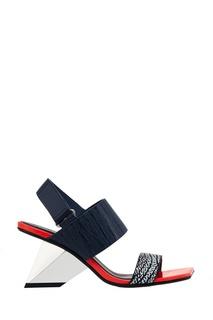 Босоножки из красно-черной кожи Rockit Sandal United Nude