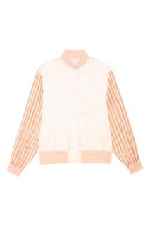 Розовая комбинированная куртка Mm6 Maison Margiela