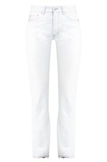 Прямые белые джинсы Balenciaga